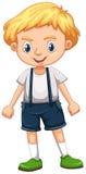 Rapaz pequeno no terno total ilustração stock