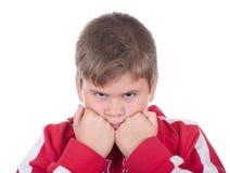 Rapaz pequeno ofendido foto de stock