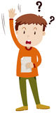 Rapaz pequeno que faz a pergunta ilustração do vetor