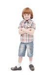 Rapaz pequeno que levanta para a câmera Imagens de Stock
