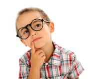 Rapaz pequeno sábio Fotografia de Stock