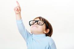 Rapaz pequeno sábio fotos de stock