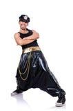 Rapdansare i breda flåsanden Royaltyfri Bild