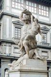 The Rape of Polyxena sculpture in Loggia della Signoria. Florenc Stock Photos