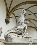 The Rape of Polyxena sculpture in Loggia della Signoria. Florenc Stock Images