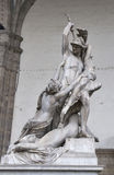 Rape of Polyxena sculpture by Pio Fedi in Florence Stock Photography