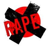 Rape rubber stamp Stock Photo