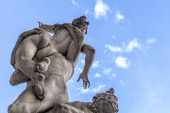The Rape of the Sabine Women. Florence Italy Stock Photo