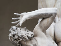 Rape of sabine women statue detail Royalty Free Stock Photography