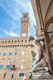 Rape of the Sabines sculpture by Giambologna in Florence, Italy Royalty Free Stock Photography