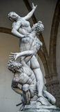 The rape of Sobbin' women statue in Florence Royalty Free Stock Photography