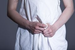 Rape vcitim feeling shame Royalty Free Stock Photography