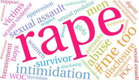 Rape Word Cloud. On a white background Stock Photo
