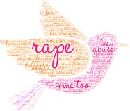 Rape Word Cloud. On a white background Royalty Free Stock Images