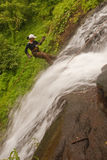 rapelling водопад Стоковое Изображение RF