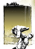 Rapera plakata tło Obraz Stock