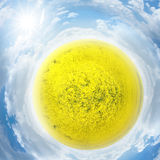 Rapeseed planet Royalty Free Stock Images