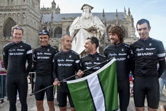 The Rapha Condor Sharp by Exeter Cathedral Royalty Free Stock Photo