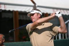 Raphael Eyraud dans des maîtres de golf du Crans-Montana Image stock