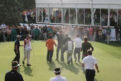 Raphael Jacquelin, golf de ouvert Madrid 2005 Photo libre de droits
