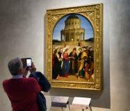 Raphael-målning i den Brera konstgallerit, Milan Royaltyfri Foto