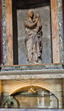 Raphael and Maria Bibbiena's tomb in the Pantheon. The Madonna Stock Photos