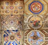 Raphael Rooms (Stanze di Raffaello), Vaticano, Roma Imagem de Stock