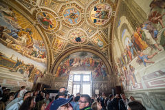 Raphael Rooms. In Vatican Museums stock photography