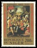 Raphael, scena religiosa di verniciatura Immagine Stock