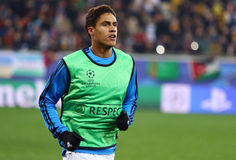 Raphael Varane of Real Madrid Stock Images