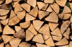 Rapièce le bois de chauffage Image stock
