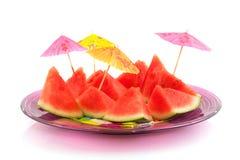 Rapièce le melon d'eau Photos stock