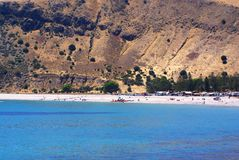 Rapid Bay Seaside Recreation. Rapid Bay, a popular holiday destination in South Australia, with photo showing dramatic steep scenery and a beach with Stock Photos