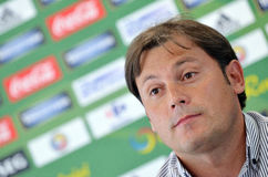 Rapid Bucharest's team manager Daniel Perja during a press conference Stock Image