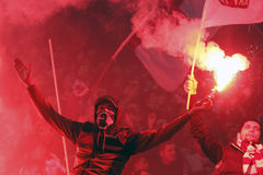 FC Rapid Bucharest - FC Dinamo Bucharest Stock Image