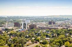 Rapid City, South Dakota, USA. Panorama of Rapid City, South Dakota, USA stock photo