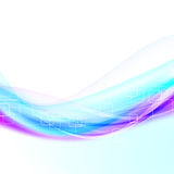 Rapid colorful futuristic wave background Stock Images