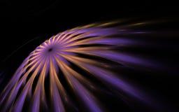 Rapid cosmic comet. Dark purple and yellow flying fractal vector illustration