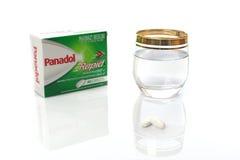 Rapid de Panoldol para las cápsulas del alivio del dolor Foto de archivo libre de regalías