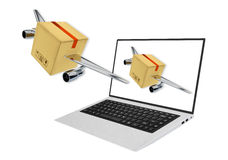 Rapid delivery concept 3d render illustration Stock Photography