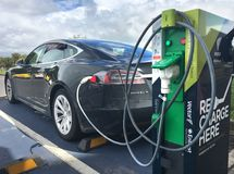 Rapid electric vehicle charging station in Auckland New Zealand. Rapid electric vehicle charging station. On Nov 2016 Vectors networks had 9,095 rapid charging royalty free stock photography
