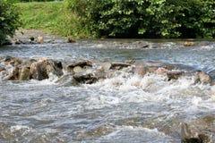 Rapid en el río Semois, belga Ardenas Fotografía de archivo libre de regalías