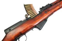 Rapid-firing rifle Simonov. Retro rapid-firing army carbine of the USSR Stock Photography