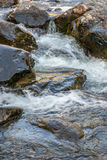 Rapid flow of the Chulcha river near Uchar waterfall. Altai, Russia Stock Images