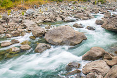 Rapid flow. Rapids flowing down the Wenatchee river near Levenworth Royalty Free Stock Photography