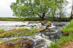 Rapid flow of small river Stock Image