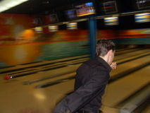 Rapid game in bowling Stock Images