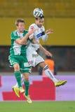 Rapid gegen Trondheim Sturm Graz Lizenzfreie Stockfotos