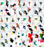 Rapid geometric motion concepts. Set of triangle abstract backgrounds Stock Photo