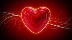 Rapid heart rate on an abstract background
